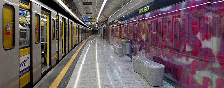 Fase 2, Napoli: al massimo 120 passeggeri sulla metropolitana