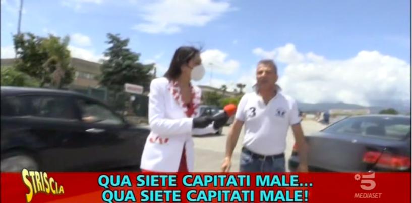 Erica senza k e Luca Abete aggrediti durante un servizio. Il video di Striscia