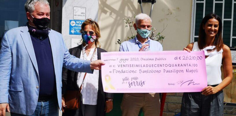 Iannace in campo: donazione al Pausilipon grazie alle palline rosa di Natale
