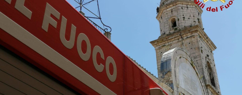 Vigili del Fuoco, verifiche di stabilità sulla cupola della Cattedrale di Nusco