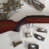 Montoro, in casa con 60 grammi di marijuana ed un fucile: denunciato