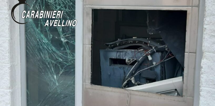 Furto con esplosivo al bancomat di Roccabascerana: i carabinieri indagano