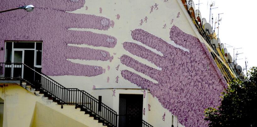 """FOTO / Lioni-Bergamo, un legame che non si spezza nel nuovo murale """"Folle"""""""