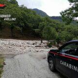 Frana sulla Provinciale tra Bagnoli Irpino e Acerno: circolazione bloccata