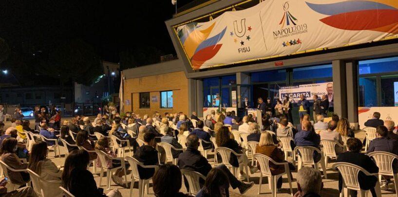 """La Carità incontra i cittadini a Cardito: """"Gestione intelligente delle finanze. Subito la fibra ottica agli alloggi"""""""