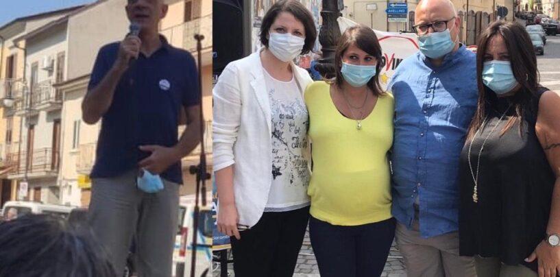 Regionali, candidati M5S in piazza a Montefalcione insieme alla deputata Pallini