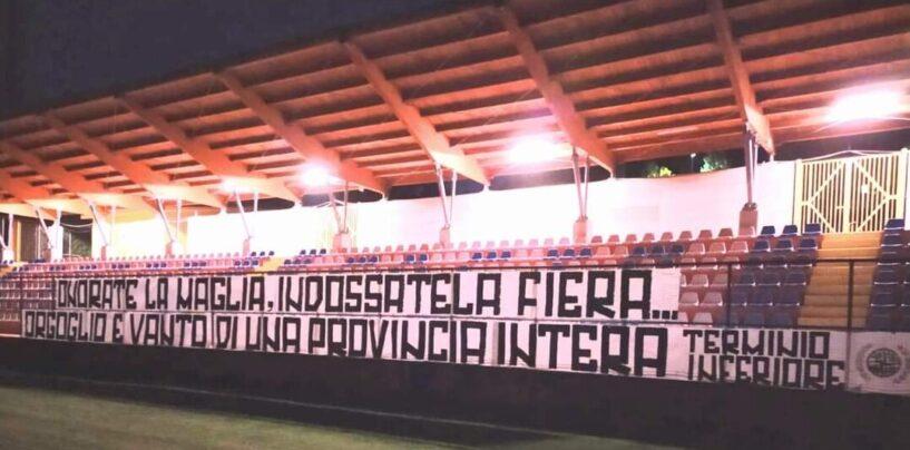 Blitz dei tifosi a Sturno: striscione per i calciatori dell'Avellino