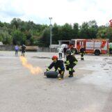 FOTO E VIDEO / Vigili del fuoco, l'esercitazione in una ditta di Pratola Serra