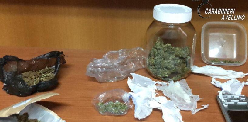 Serino, 19enne sorpreso con hashish e marijuana: arrestato dai carabinieri