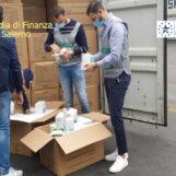 Maxi sequestro di mascherine non a norma al porto di Salerno