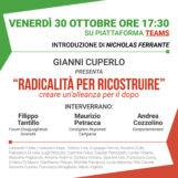"""""""Radicalità per ricostruire"""": appuntamento sulla piattaforma Teams con Gianni Cuperlo"""