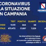Covid Campania: 664 positivi, 68 guariti e 2 decessi