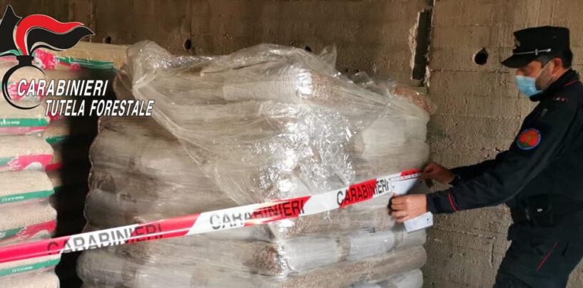 270 quintali di pellet contaminato da piombo ed azoto, scatta il sequestro dei carabinieri Forestali