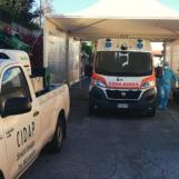 Covid-19, al Moscati la Cidap allestisce l'area sanificazione ambulanze