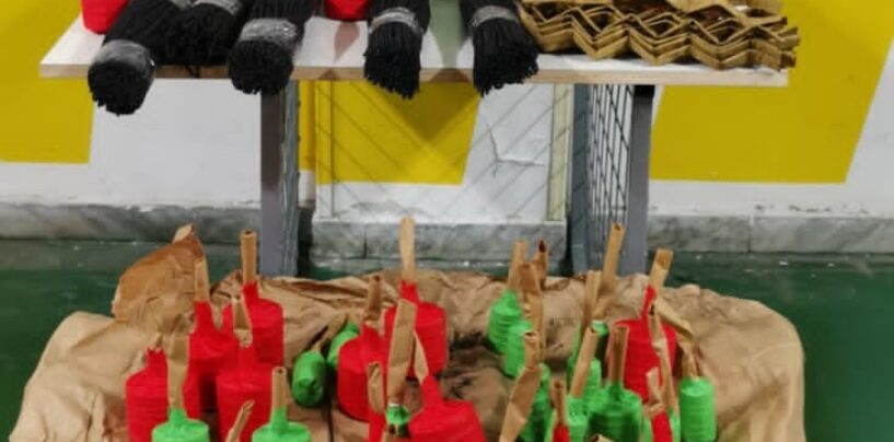 Salerno: sequestrati oltre 17 chili di fuochi d'artificio illegali
