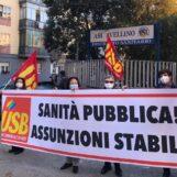 Assunzioni stabili nella sanità pubblica: il presidio dell'USB presso l'ASL di Avellino