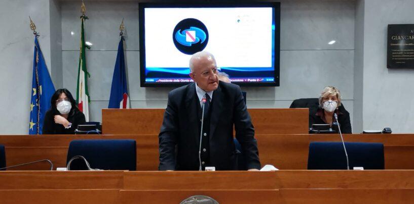 """De Luca presenta il programma di Governo: """"dobbiamo lavorare ad un piano industriale che punti sulle eccellenze e risolvere le criticità ambientali"""""""
