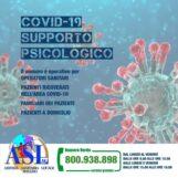 Covid, l'Asl attiva un numero verde per il supporto psicologico