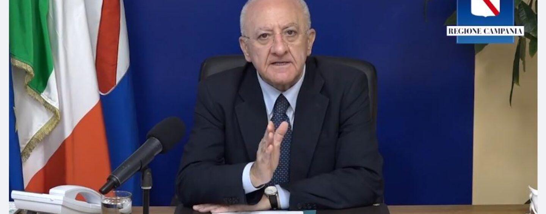 """De Luca: """"Campania è gialla da ieri, non c'è altro da decidere"""". """"Solleciterò rispetto rigoroso regole"""""""