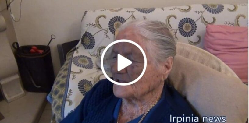 VIDEO/Laurina Sangenito compie 110 anni, la festa per la nonna irpina dei record