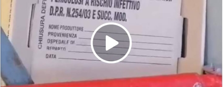 VIDEO/Rifiuti infettivi Covid abbandonati a terra all'Ospedale Moscati