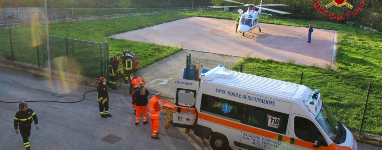 Vigili del Fuoco: operazione di assistenza all'elicottero del 118