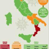 """Covid, l'Italia """"divisa"""" in tre. Campania per ora zona arancione"""