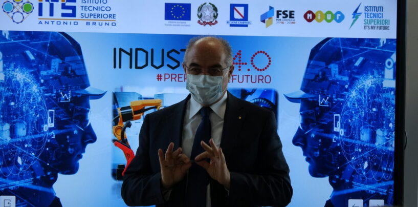 Welcome day all'Its Antonio Bruno: il presidente Bruno da' il benvenuto alla nuova classe