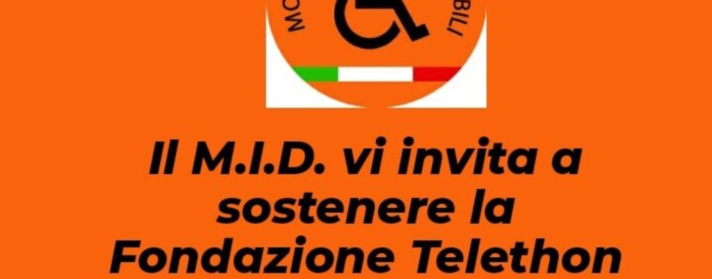 Disabili, il Mid invita a sostenere la fondazione Telethon