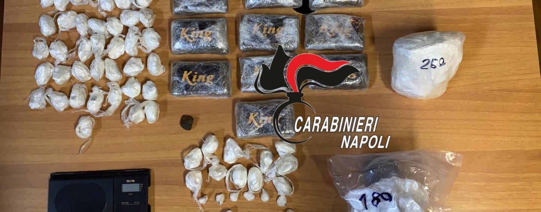 Droga per le festività. Quasi 2 chili di stupefacenti nascosti in giardino e nella cuccia del cane. 50enne arrestato dai carabinieri
