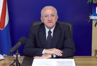 """Il Governatore De Luca torna all'attacco del Premier: """"Profondo disagio per la replica di Draghi sulle risorse per il Mezzogiorno"""""""