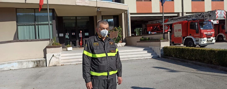 """FOTO E VIDEO / Vigili del fuoco, il giorno di Bellizzi: """"Amo il comando di Avellino e gli renderò onore"""""""