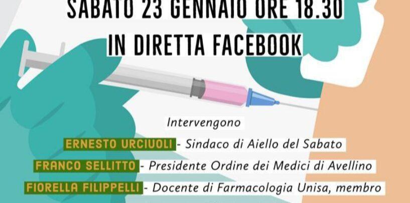 Aiello del Sabato: l'assessore Preziosi in diretta Facebook sulla tematica delle vaccinazioni anti-Covid