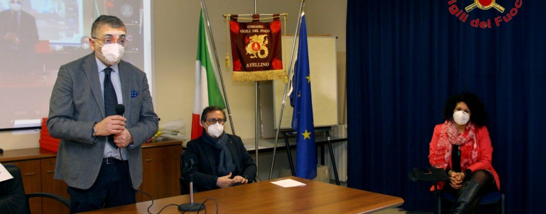 FOTO/ Vigili del fuoco Avellino, consegnate le benemerenze al personale amministrativo collocato a riposo