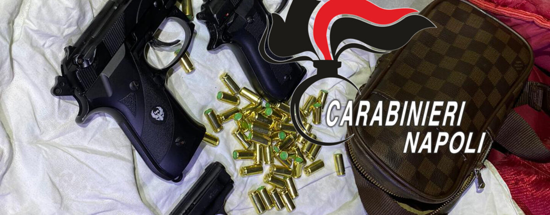Napoli Chiaiano, controlli dei carabinieri: rinvenute 3 pistole e oltre 30 munizioni
