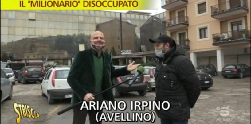 VIDEO/ Luca Abete ad Ariano Irpino per l'incredibile storia del disoccupato (falso) milionario