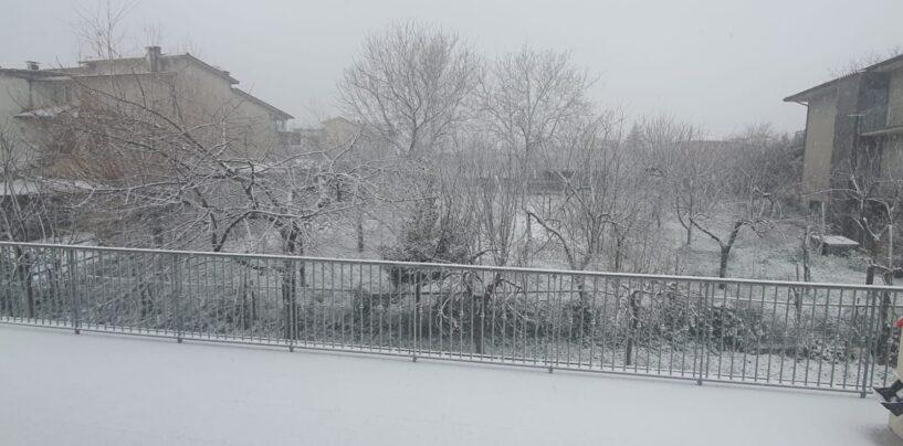 Bufera di neve a Montevergine, la dama bianca si posa anche ad Avellino