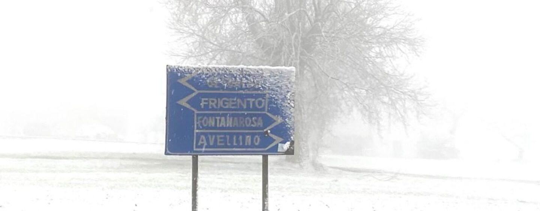 Allerta neve anche a bassa quota su tutta la Campania