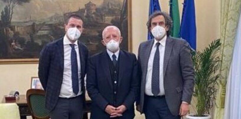 """Alaia incontra De Luca: """"Campania pronta ad acquistare il vaccino direttamente dalle case farmaceutiche"""""""