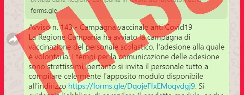 """Vaccinazioni personale scolastico, De Luca: """"Ogni aggiornamento soltanto sui canali ufficiali della Regione"""""""