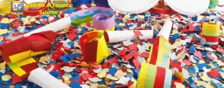 Commercio abusivo di prodotti di Carnevale, maxi sequestro nel Salernitano