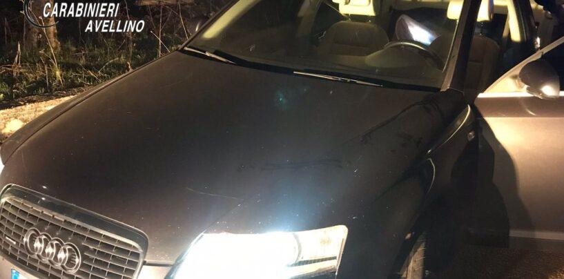 Carabinieri, inseguimento nella notte: i ladri abbandonano l'auto e la refurtiva e scappano a piedi