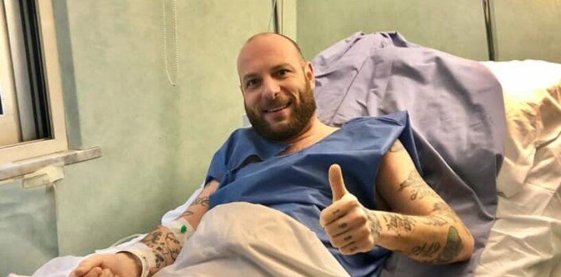 """FOTO / Clementino operato ad Avellino. """"Tutt appost! Grazie allo staff della Malzoni"""""""