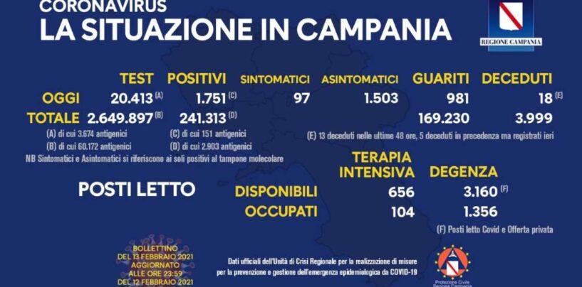 Covid, Campania: resta alto il tasso d'incidenza (8,57%)
