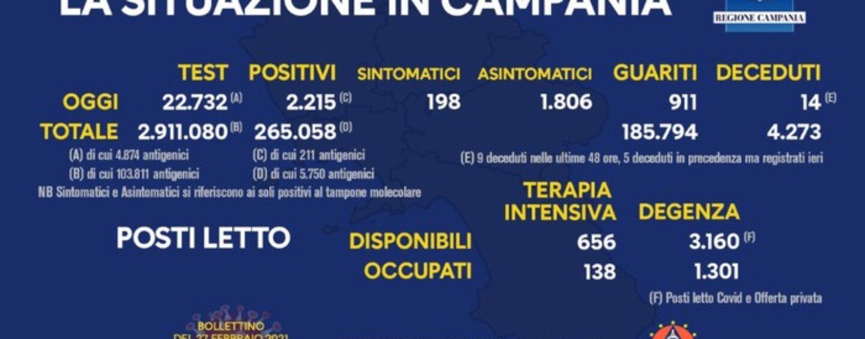 Covid: cala la  curva dei contagi in Campania