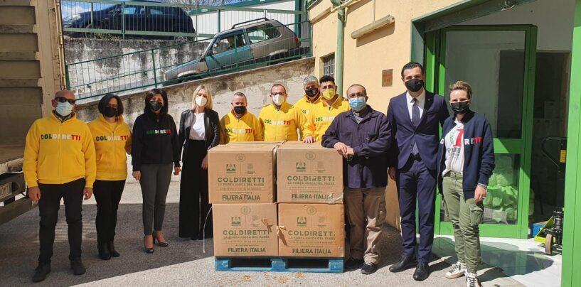 FOTO / Alimenti made in Italy da Coldiretti, Pasqua meno amara per chi ha bisogno anche ad Avellino