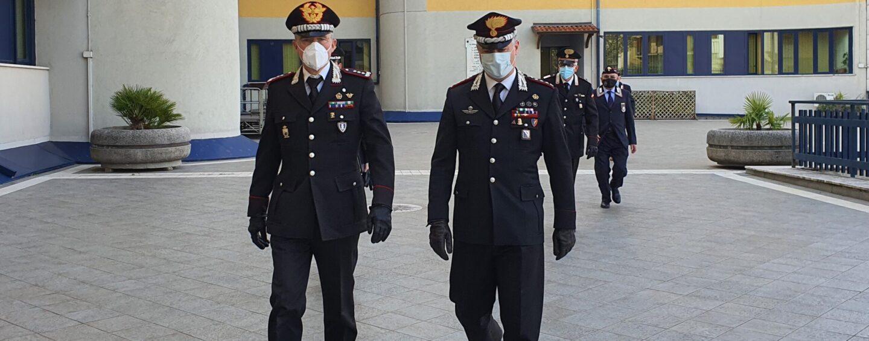 FOTO/ Carabinieri, il Generale di Corpo d'Armata Maurizio Detalmo Mezzavilla in visita ad Avellino