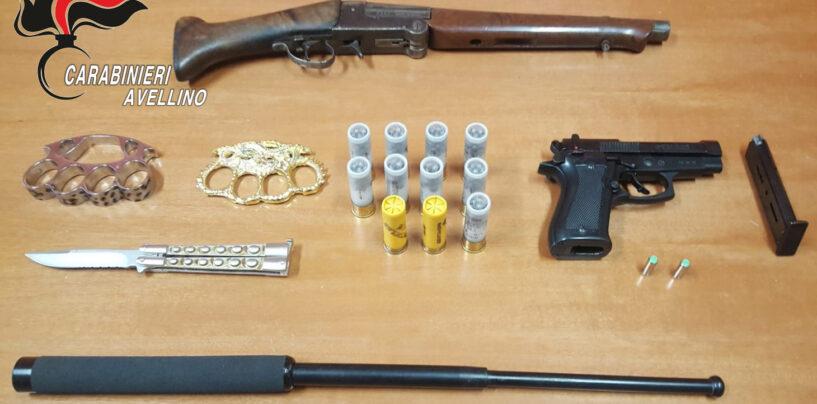 Nascondeva in casa armi, munizioni, carte di credito e numerosi cellulari: un arresto e tre denunce ad Atripalda