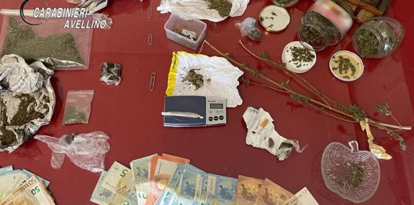 Droga vicino la loro attività commerciale e in casa: arrestati due spacciatori di Serino