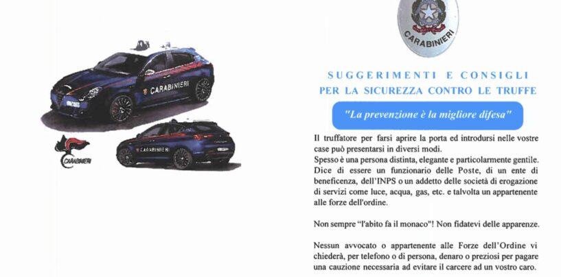 Raffica di truffe agli anziani nel Sannio: i suggerimenti dei carabinieri per contrastarle
